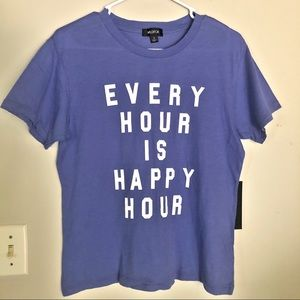 WILDFOX Periwinkle Every Hour Is Happy Hour Tee